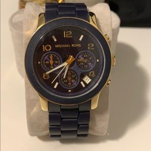 Michael Kors Watch NAVY and GOLD